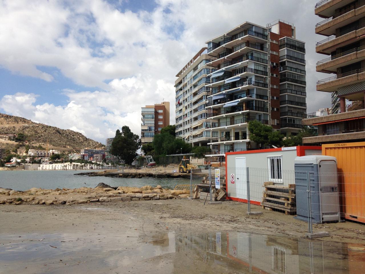Imágenes de las obras en La Albufereta