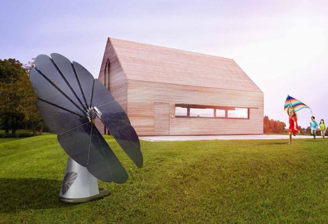 Girasol fotovoltaico.