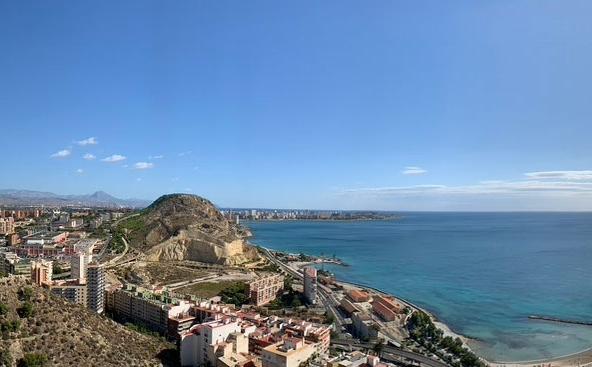 Finca Adoc desde el Castillo de Santa Bárbara